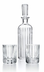 Baccarat Harmonie French Whisky Spirits Alcohol Crystal Decanter Andtumbler Set