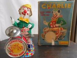 Alps Drummer Clown Tin Toy Tinplate Electric Antique From Japan Very Rare Used