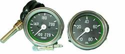 Temperature And Oil Gauge Fit Willys Mb Jeep Fd Mb, Gpw, Cj2a, Cj3a And Early Cj3b