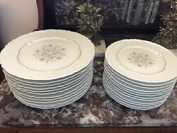 24 Pcs Theodore Haviland Limoges Rouard Dinner And Salad Plates France Gold China