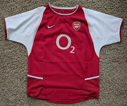 Arsenal 02/04 Vintage Invincibles Home Kit/jersey Youth Xl - Boys 2002/04