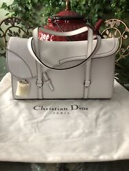 100 Authentic Christian Dior White Leather Bag