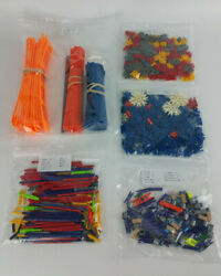 Lot 739 Micro Knex Parts Pieces Mini Rods Connectors Track Spacers Clips Adapter