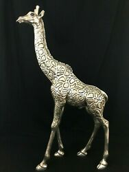 Dand039argenta Mexico Silver Giraffe Father Statue Sculpture Claudio Rodriguez 29.5and039and039
