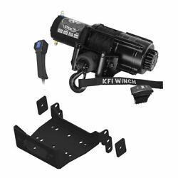 Winch Kit 4500 Lb For Polaris Rzr Rs1 2018-2021 Synthetic Rope