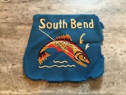 Vintage South Bend Fishing Lures Custom Patch Very Old Trout Bass