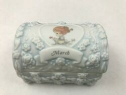 Precious Moments Birthday Chest Box March 1997 Porcelain