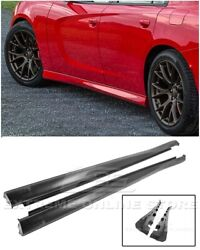 For 11-up Dodge Charger Srt Factory Style Side Skirts Rocker Panel Pair