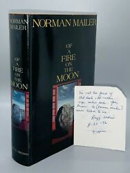Of A Fire On The Moon/mailer First Edition Signed By Buzz Aldrin Unique Copy