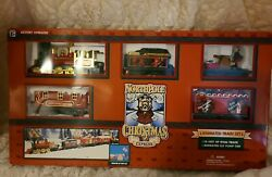 North Pole Express Christmas Animated Musical Train Set New Unopened Box Vintage