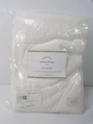 Pottery Barn Emery Linen Drapes Panels Curtain Cotton Lined 84 White S/ 4 8818