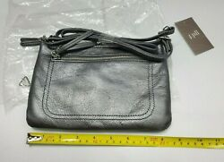 J. Jill Metallic Purse Small Gray Pewter Silver Evening Bag Shoulderbag NWT $44.99