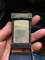 Vintage Zippo Lighter Antique Silver Plate Made In 2001 Very Rare