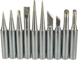 10x 900m Soldering Iron Tips For Hakko 936937907 Atten Quick Aoyue And 10