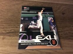 2020 TOPPS NOW #165 MIKE YASTRZEMSKI CRASHES INTO WALL FOR HR ROBBERY P R 463