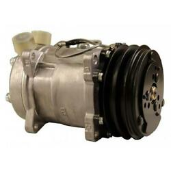 8814525a Sanden Sd5h14 Compressor, W/ 2 Groove Clutch - New Fits Allis Chalmers