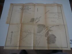 Antique Map Re-examination Of The Outlet Of The South Channel River St. Clair