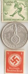 1936-german Olympic Stamp/silver Eagle.90029 Mm4016 Ozcoin+us Steel Penny