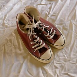 Vintage Converse Chuck Taylor Made In Usa Burgundy Awesome Old Rare Size 6 Mens