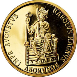 [902731] Coin Belgium Charlemagne 50 Ecu 1989 Ms Gold Km174