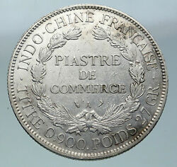1908 A French Indo-china Antique Big Silver Piastre Coin France Republic I86521