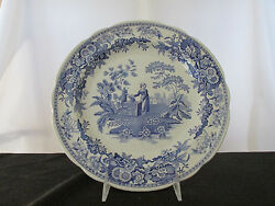 Spode Blue Room Collection Girl At The Well Dinner Plate - Made In England.