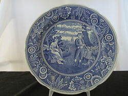 Spode Blue Room Collection Woodman Dinner Plate - Made In England.
