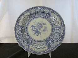 Spode Blue Room Collection Floral Dinner Plate - Made In England.