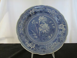 Spode Blue Room Collection Botanical Dinner Plate - Made In England.