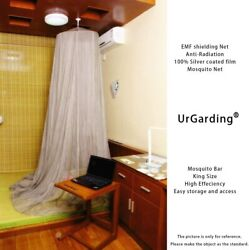 Urgarding Emf Shielding Canopy, Anti Radiation Mosquito Net Made By Silver Coate