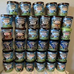 Ben And Jerryandrsquos Collectable Empty Ice Cream Cups Lot Of 35 Containers