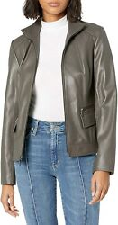Cole Haan Womenand039s Wing Collar Jacket