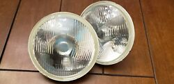 Vintage Bmw 02 2002 Tii 1600 E10 Glass H4 Front Headlights Pair 67-76 68 69 70