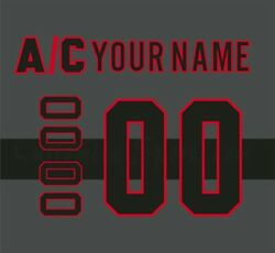 Montreal Canadiens Customized Number Kit For Cross Check Jersey