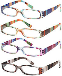 Gamma Ray Women#x27;s Reading Glasses 4 Pairs Ladies Fashion Readers for Women $30.00