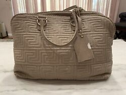 New With Tag Retro Gianni Versace Couture Handbag Purse Pail Powder Pink .