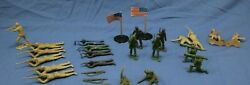 28 Pieces Ww2 Toy Marx/mpc Parts And Pieces Lot 132 Scale - D2