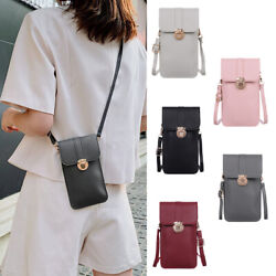Women Cell Phone Purse Bag Shoulder Strap Touch Screen Cross Body Pouch Wallet $8.99