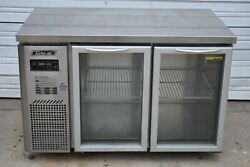 Turbo Air Jur-48-g 48 Undercounter Coolerwith 2 Glass Swing Doors