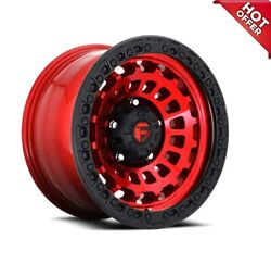 18x9 Fuel Wheels D632 Zephyr 8x180.00 Candy Red Black Ring Off Road 1 S44