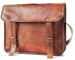 Genuine Men#x27;s Perfectly made Messenger Leather Laptop Professional Office Bag $37.99