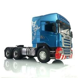1/14 Lesu Rc 64 Metal Chassis Hercules Painted Scania Cabin Rc Tractor Truck