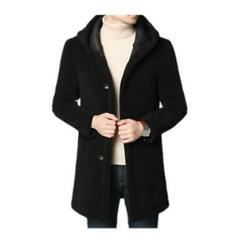 Menand039s Trench Coat Fur Clothes Cashmere Jacket Overcoat Parka Outwear Winter L
