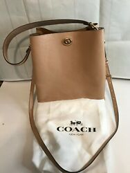 Coach Charlie Leather Bucket Bag Style No. 55200 BEIGE NICE $169.99