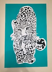Leopard Painting On Canvas - Original 36x24x1.5 Inch Gallery Wrap