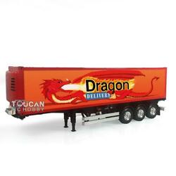 Hercules 1/14 40ft Reefer Semi-trailer Fiery Dragon Container Rc Tractor Truck