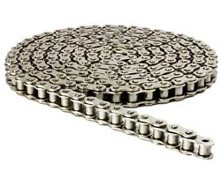 40np Nickel Plated Roller Chain 10ft With 1 Master Link, Corrosion Resistant