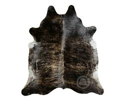 New Brazilian Cowhide Rug Leather DARK BRINDLE 5x7#x27; Cow Hide Rug Cow Leather