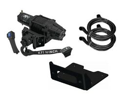 Winch Kit 5000 Lb For Polaris 900 Rzr Xp 4 2012-2014 Synthetic Rope
