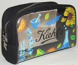Kiehl#x27;s Clear Cosmetic Makeup Bag Navy Blue Canvas NEW Toiletry Travel Dopp $8.90